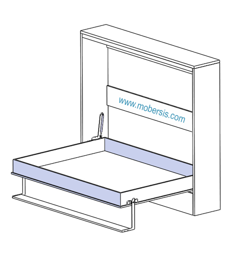 140x200 Yatay açılır çift kişililk yatak mekanizması