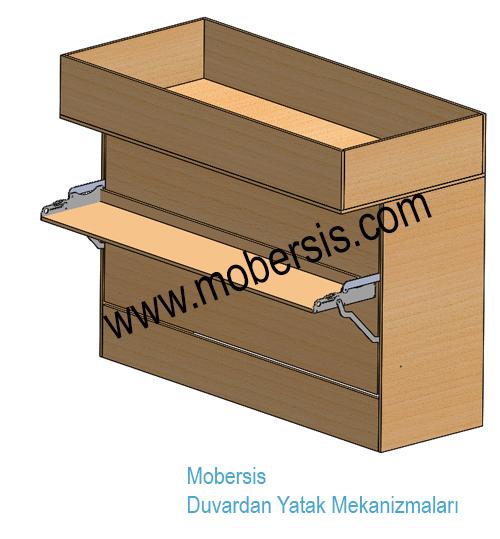 100x200 Tek Açılır Masalı Katlanır Ranza Sistem Mekanizması